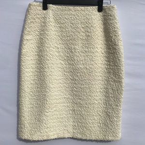 J. Crew Ivory Textured Pencil Skirt Sz 12